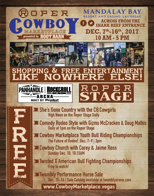 starting at the las vegas convention center there is cowboy christmas the sands has country christmas mandalay bay has cowboy marketplace mgm hosts the